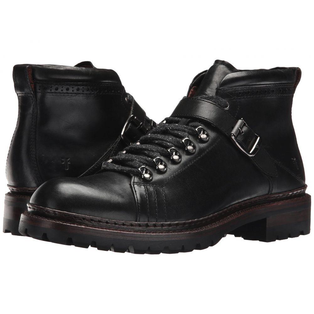 フライ Frye メンズ ハイキング・登山 シューズ・靴【George Norwegian Hiker】Black Vintage Pull Up