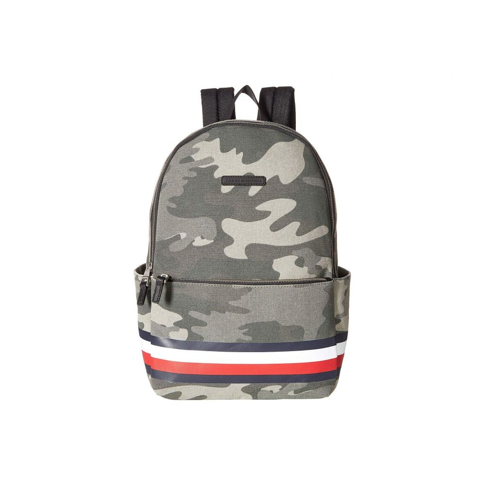 トミー ヒルフィガー Tommy Hilfiger メンズ バッグ バックパック・リュック【Stephan Corporate Stripe Camo Canvas Backpack】Green