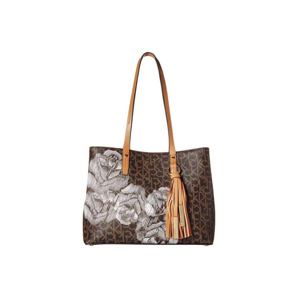 カルバンクライン Calvin Klein レディース バッグ トートバッグ【Monogram East/West Tote】Sketch Floral