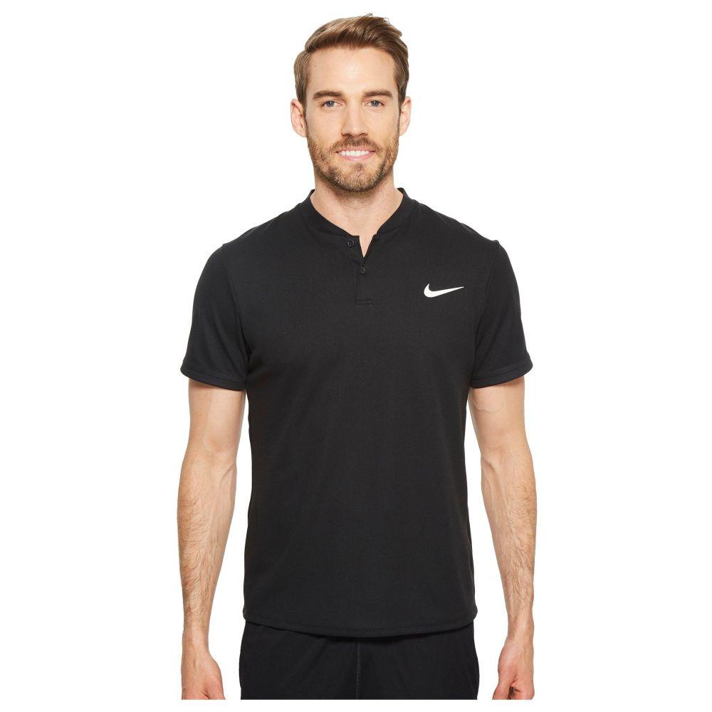 ナイキ Nike メンズ テニス トップス【Court Dry Advantage Solid Tennis Polo】Black/Black/Black