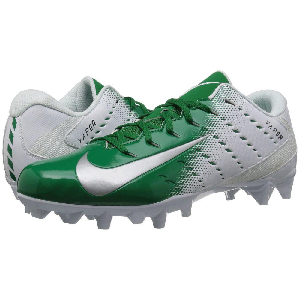 ナイキ Nike メンズ アメリカンフットボール シューズ・靴【Vapor Varsity 3 TD】White/Metallic Silver/Pine Green/Black