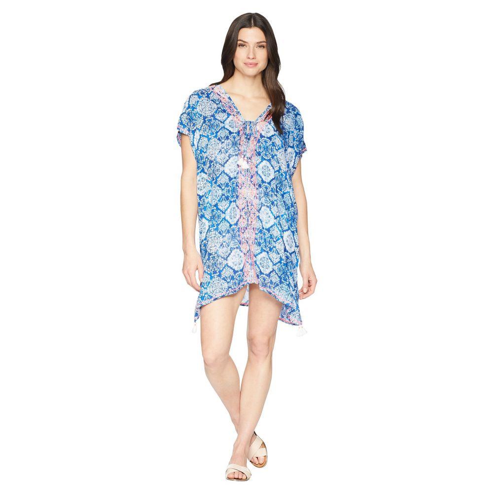 ラルフ ローレン LAUREN Ralph Lauren レディース 水着・ビーチウェア ビーチウェア【Aegean Tile Embroidered Tunic Cover-Up】Blue