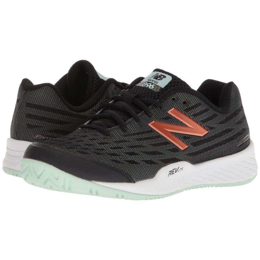 ニューバランス New Balance レディース テニス シューズ・靴【WCH896v2】Black/Seafoam