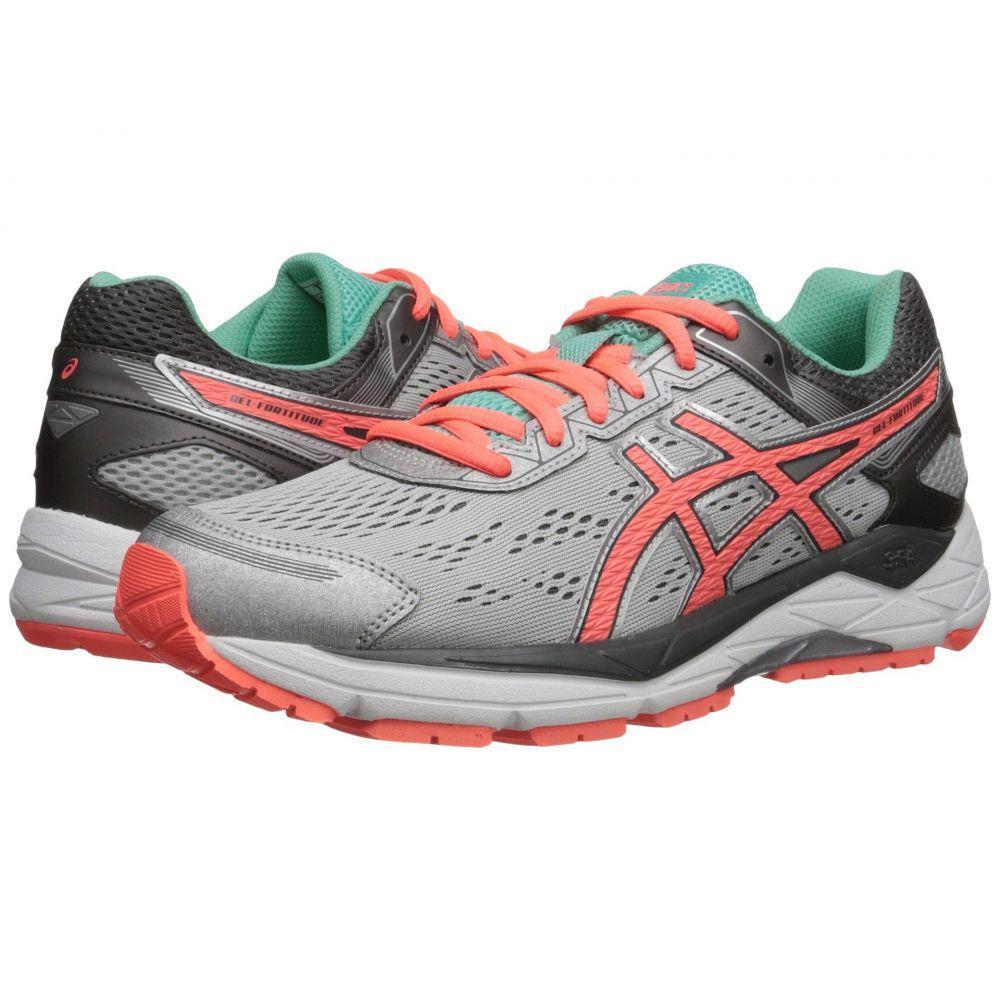 アシックス ASICS レディース ランニング・ウォーキング シューズ・靴【Gel-Fortitude 7】Silver/Fiery Coral/Aqua Mint