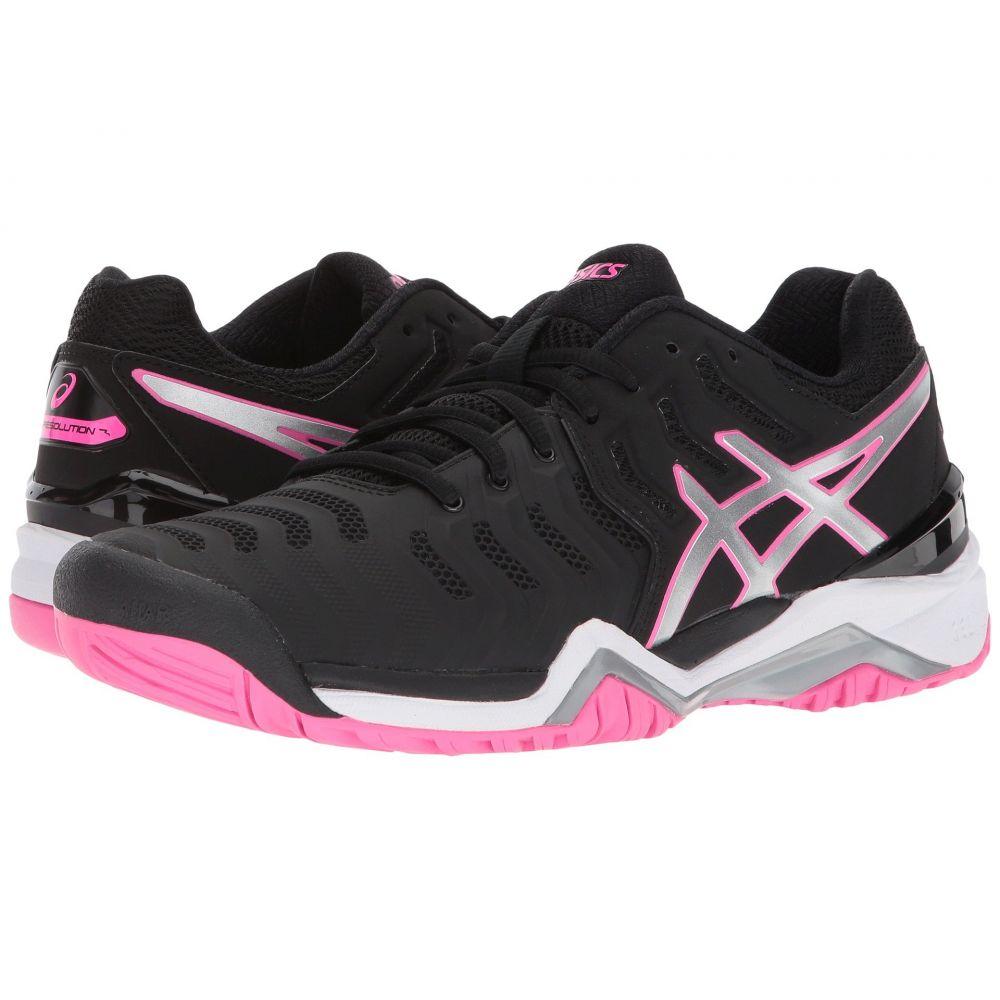 アシックス ASICS レディース テニス シューズ・靴【Gel-Resolution 7】Black/Silver/Hot Pink