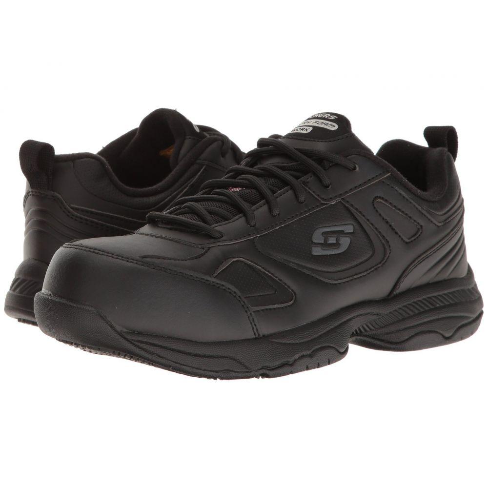 スケッチャーズ SKECHERS Work レディース シューズ・靴【Dighton - Fridley】Black Leather