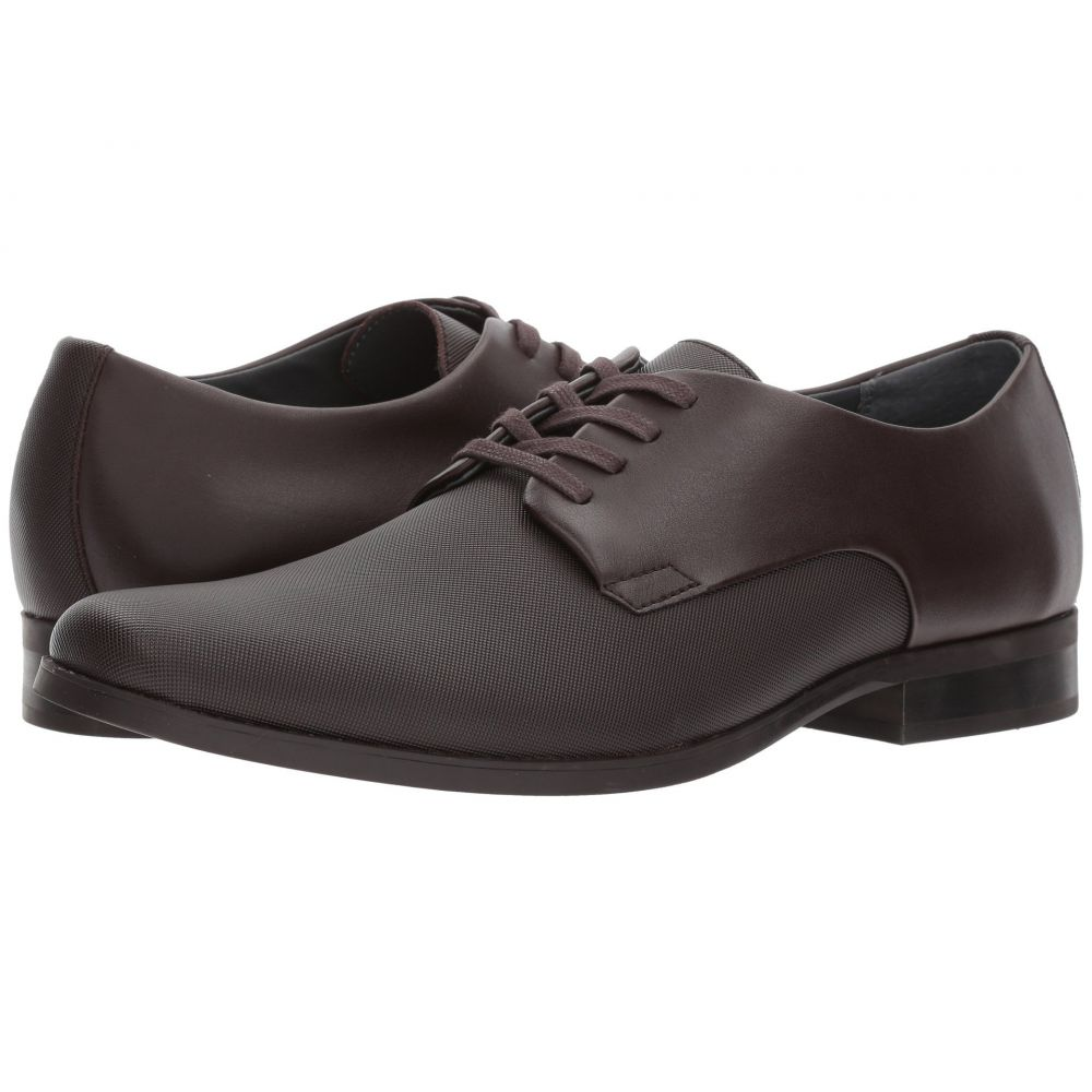 カルバンクライン Calvin Klein メンズ シューズ・靴 革靴・ビジネスシューズ【Jasper】Dark Brown Soft Leather/City Emboss