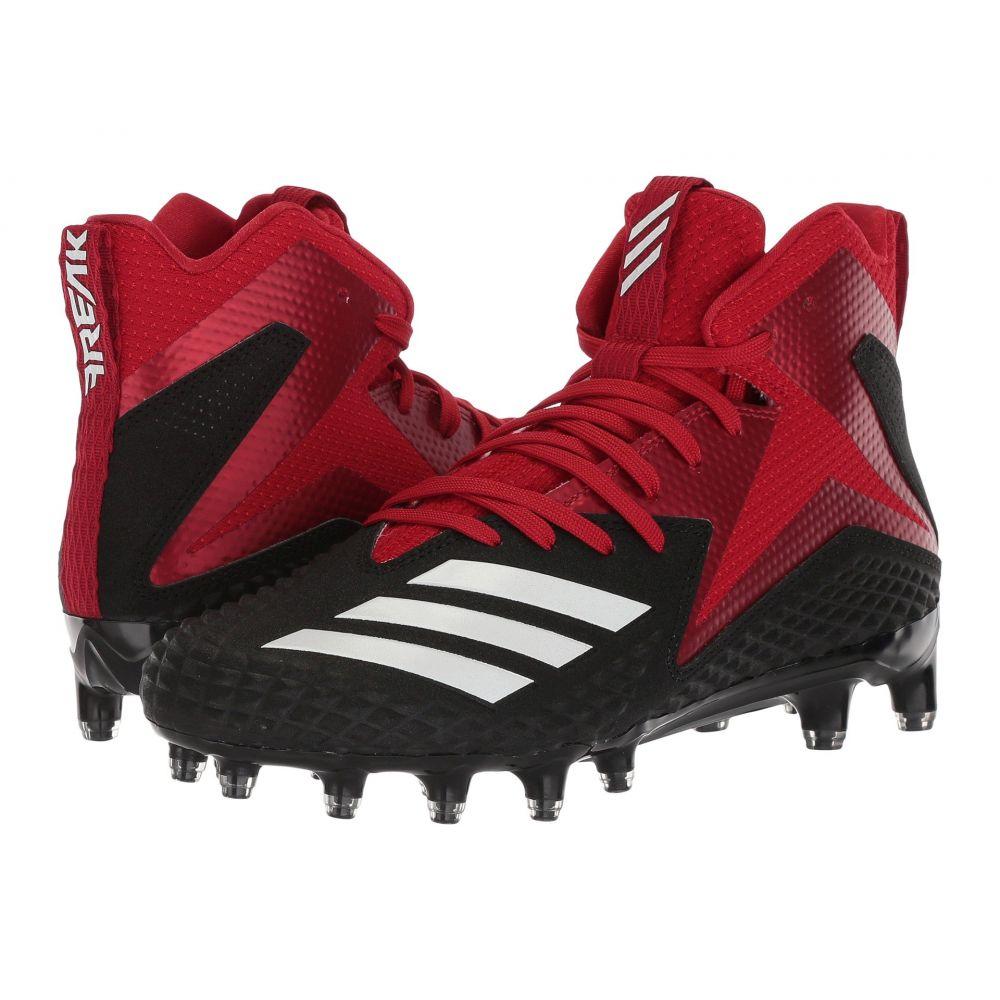 アディダス adidas メンズ アメリカンフットボール シューズ・靴【Freak x Carbon Mid】Core Black/Footwear White/Power Red