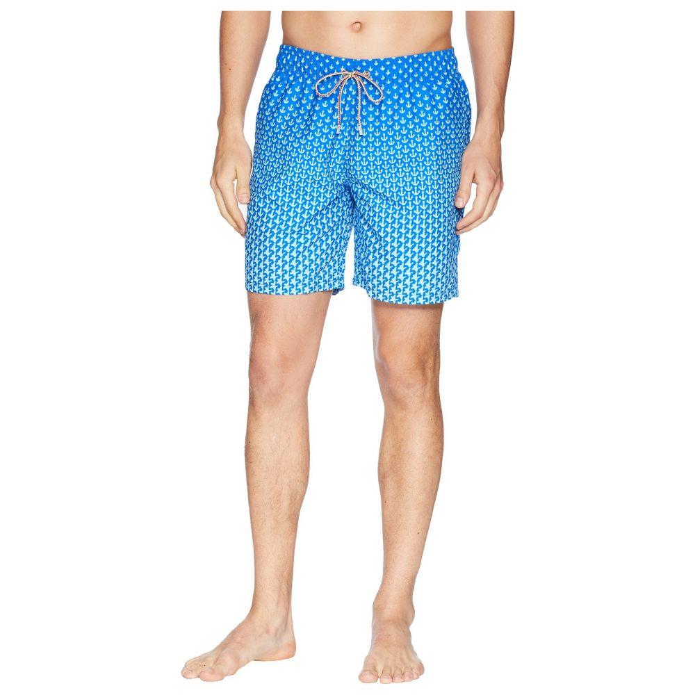 ブガッチ BUGATCHI メンズ 水着・ビーチウェア 海パン【Anchor Star Swim Trunk】Turquoise