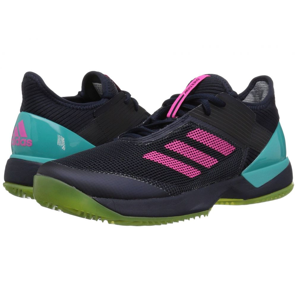 アディダス adidas レディース テニス シューズ・靴【Adizero Ubersonic 3 W Clay】Legend Ink/Shock Pink/Hi-Res Aqua