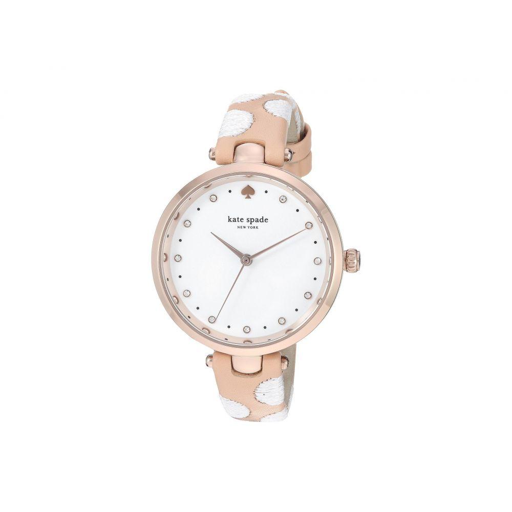ケイト スペード Kate Spade New York レディース 腕時計【Holland - KSW1450】Nude/White