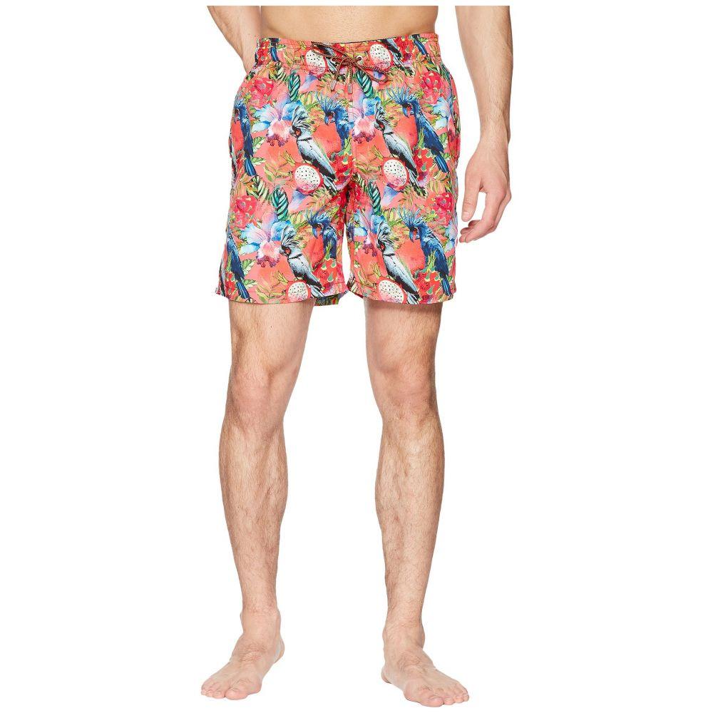 ブガッチ BUGATCHI メンズ 水着・ビーチウェア 海パン【Tropical Print Swim Trunk】Coral