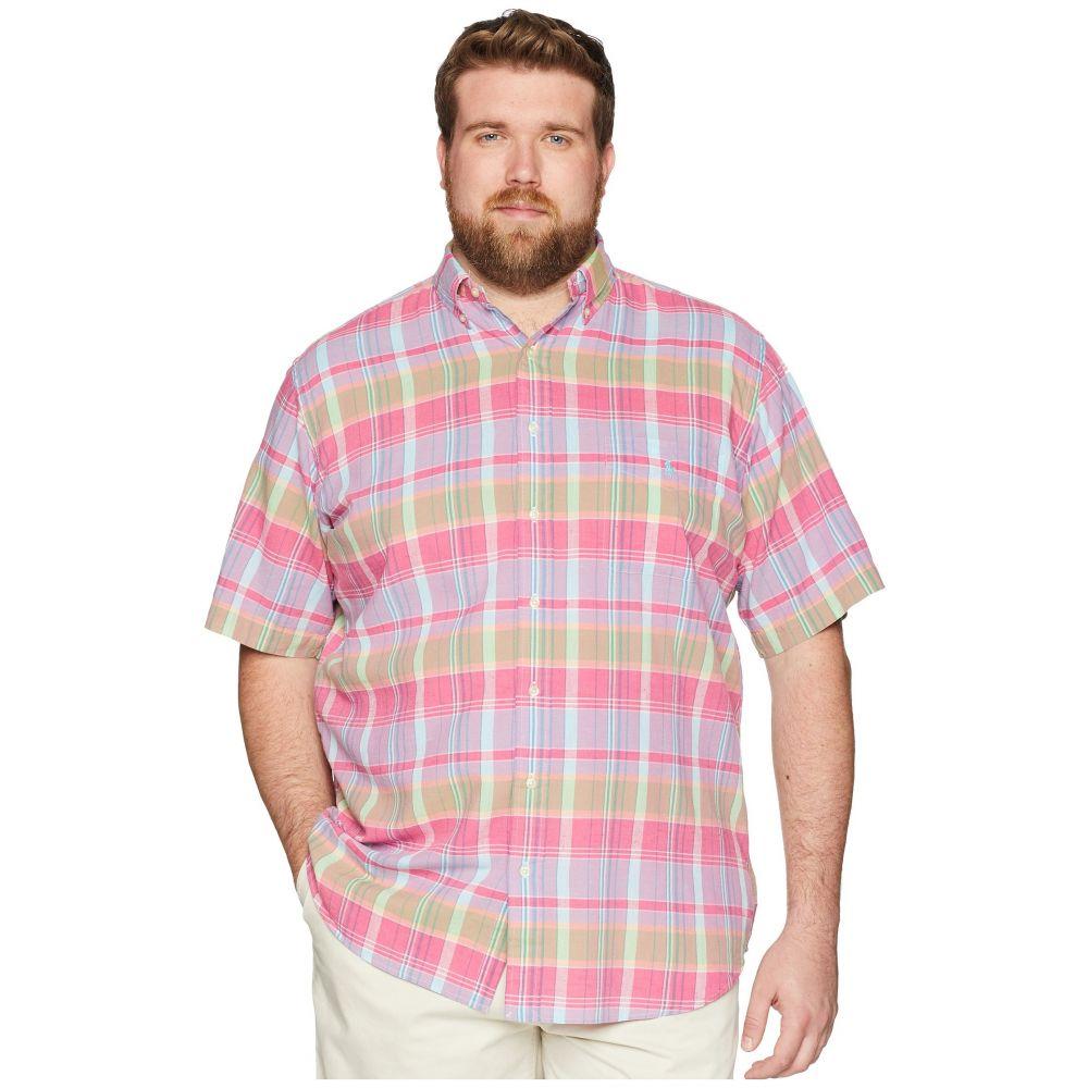 ラルフ ローレン Polo Ralph Lauren メンズ トップス 半袖シャツ【Big & Tall Madras Short Sleeve Sport Shirt】Magenta/Blue