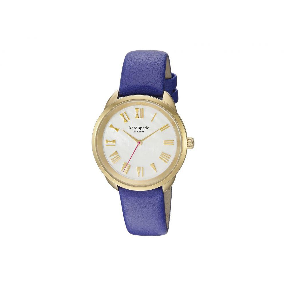 ケイト スペード Kate Spade New York レディース 腕時計【Crosstown Mother-of-Pearl - KSW1246】Gold/Blue