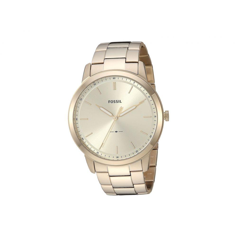フォッシル Fossil メンズ 腕時計【The Minimalist 3H - FS5462】Gold