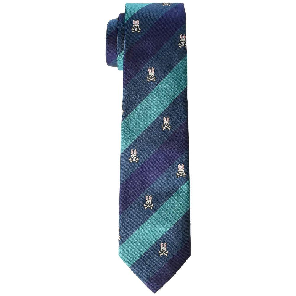 サイコバニー Psycho Bunny メンズ ネクタイ【Trad Stripe Tie】Green