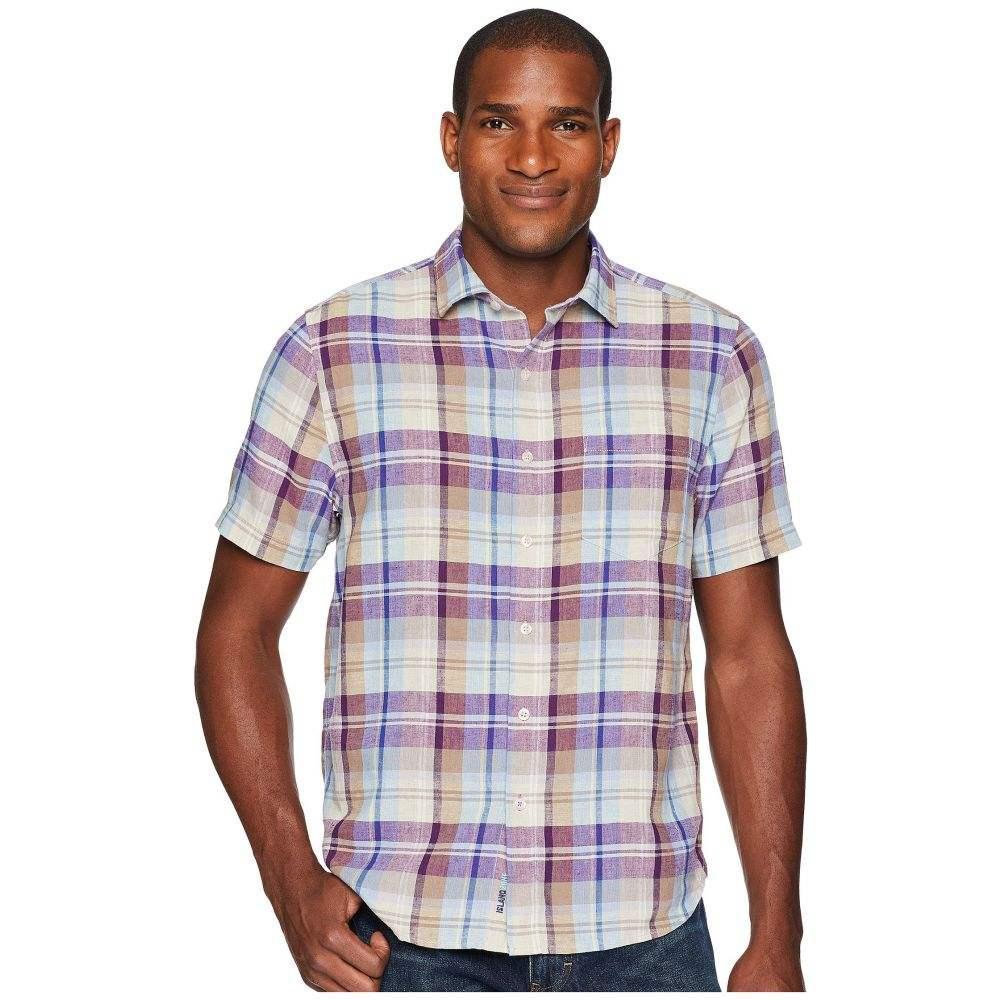 トミー バハマ Tommy Bahama メンズ トップス 半袖シャツ【La Paz Plaid Short Sleeve Camp Shirt】Sparkling Grape