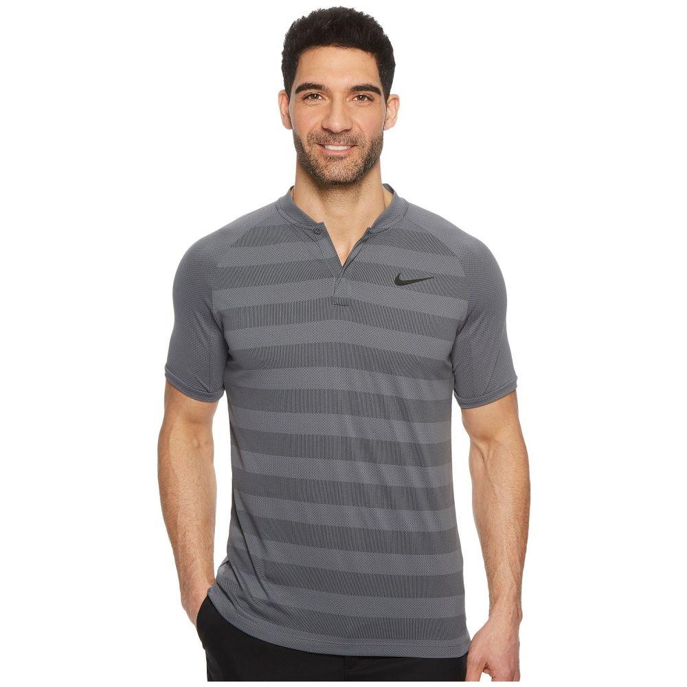 ナイキ Nike Golf メンズ トップス ポロシャツ【Zonal Cooling Slim Blade Polo】Dark Grey/Black/Flat Silver