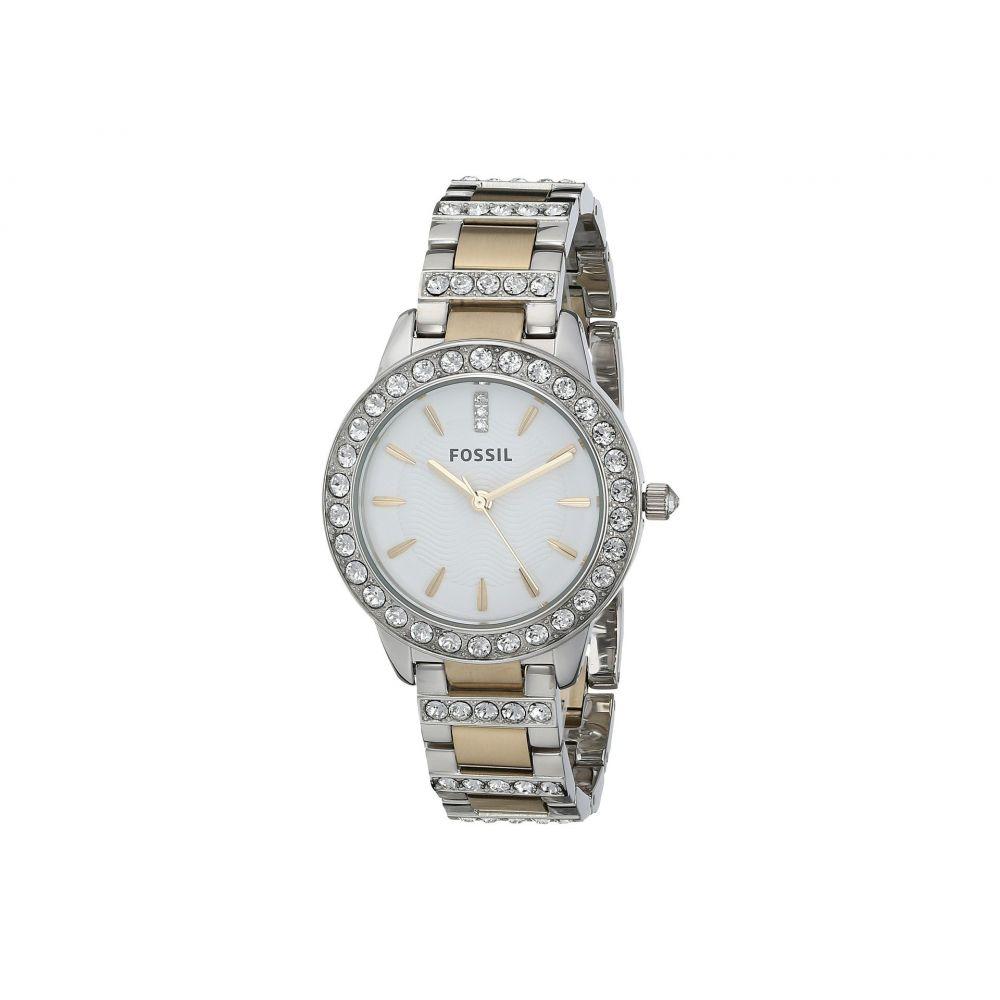 フォッシル Fossil レディース 腕時計【ES2409 Stainless Steel Bracelet Analog Dial Watch】Two Tone with Glitz