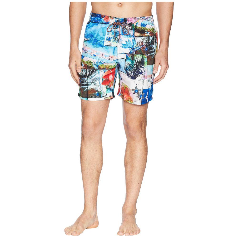 ブガッチ BUGATCHI メンズ 水着・ビーチウェア 海パン【Paradise Collage Swim Trunk】Ocean