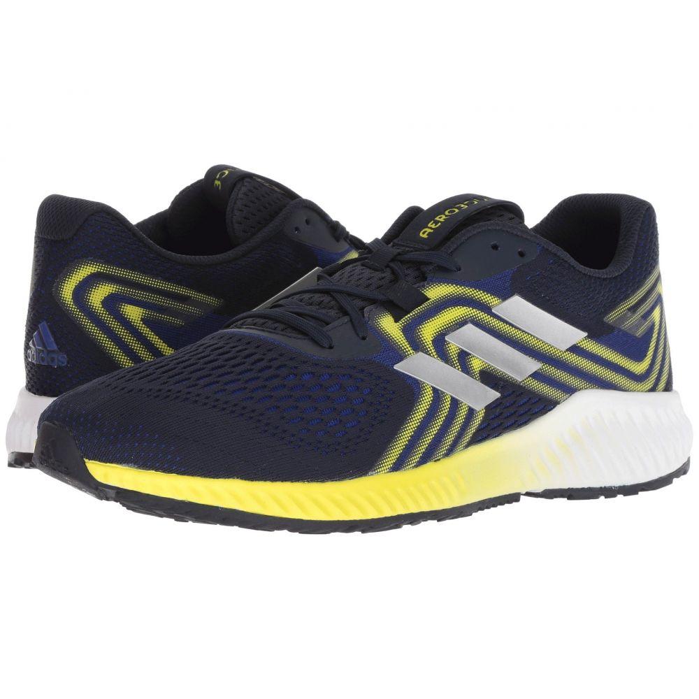 アディダス adidas Running メンズ ランニング・ウォーキング シューズ・靴【Aerobounce】Mystery Ink/Silver Metallic/Shock Yellow