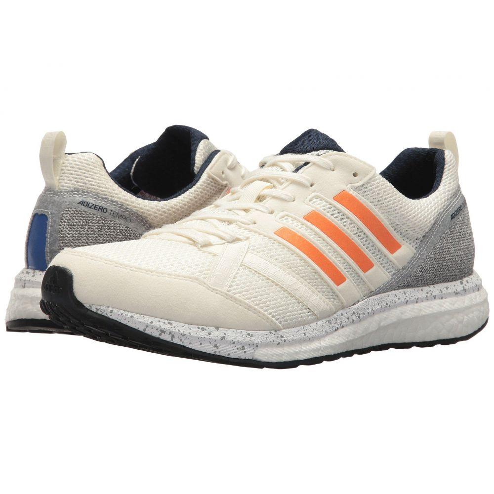 アディダス adidas Running メンズ ランニング・ウォーキング シューズ・靴【adiZero Tempo 9】Off-White/Hi-Res Orange/Collegiate Navy