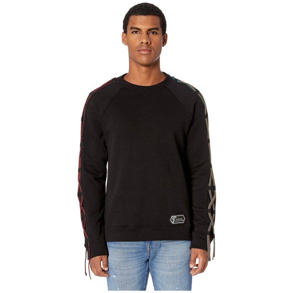 ヴェルサーチ Versace Collection メンズ トップス スウェット・トレーナー【Cord Detail Sweatshirt】Black