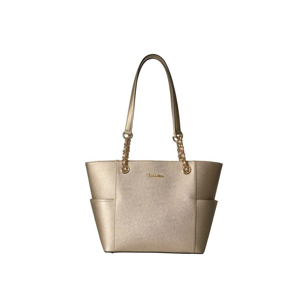 カルバンクライン Calvin Klein レディース バッグ トートバッグ【Saffiano Chain Tote】Pale Gold