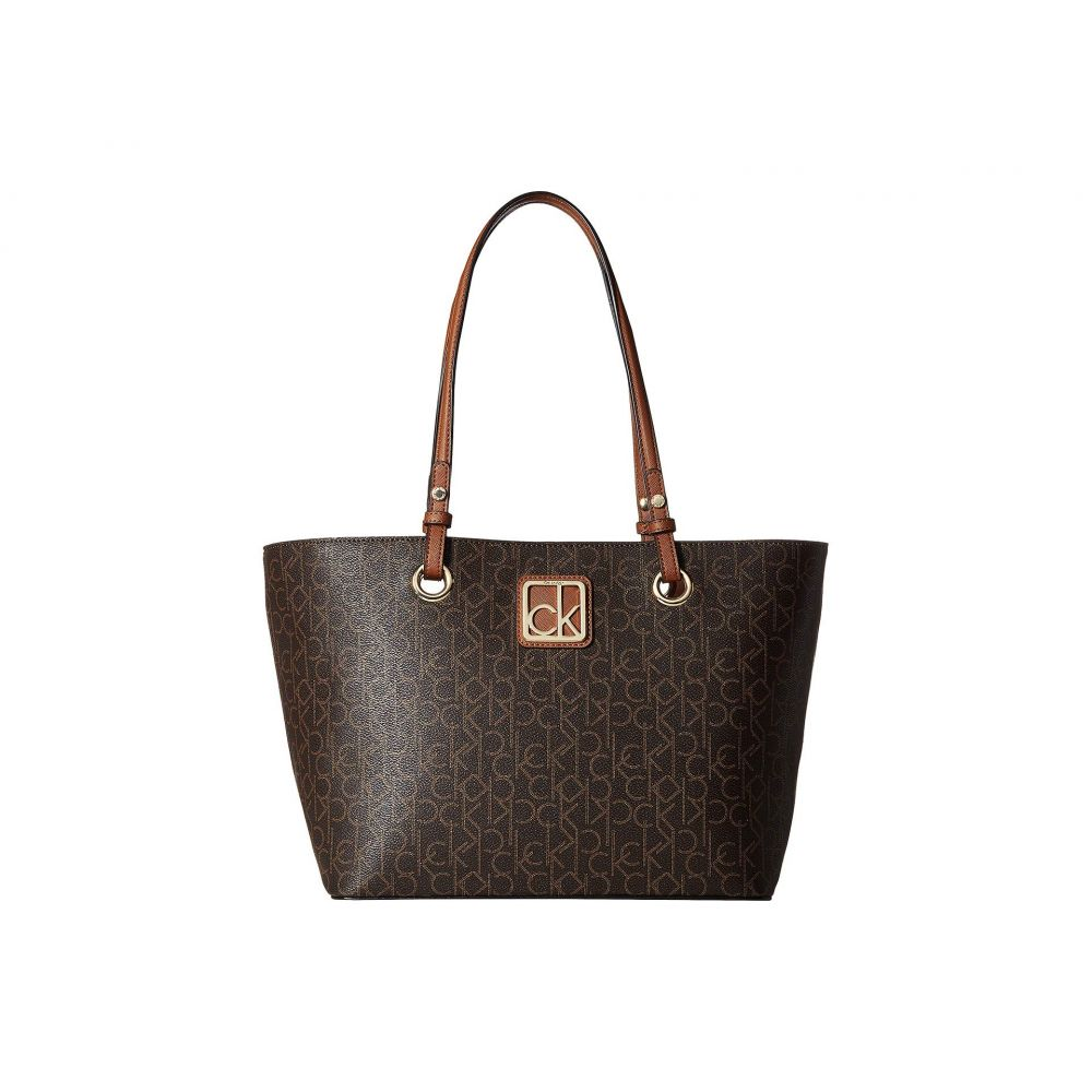 カルバンクライン Calvin Klein レディース バッグ トートバッグ【Monogram East/West Tote】Brown/Luggage
