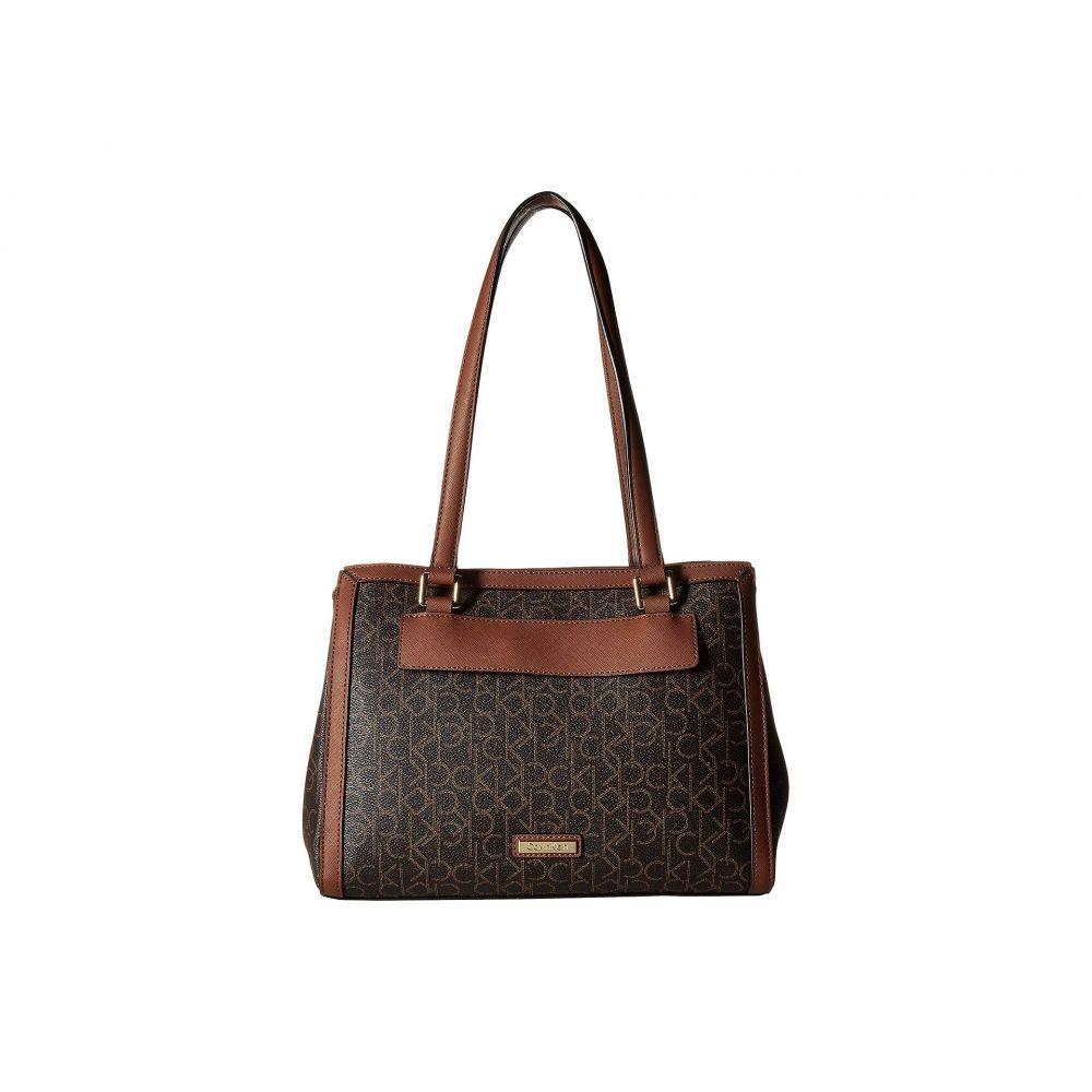 カルバンクライン Calvin Klein レディース バッグ トートバッグ【Monogram Triple Entry Shopper】Brown/Luggage