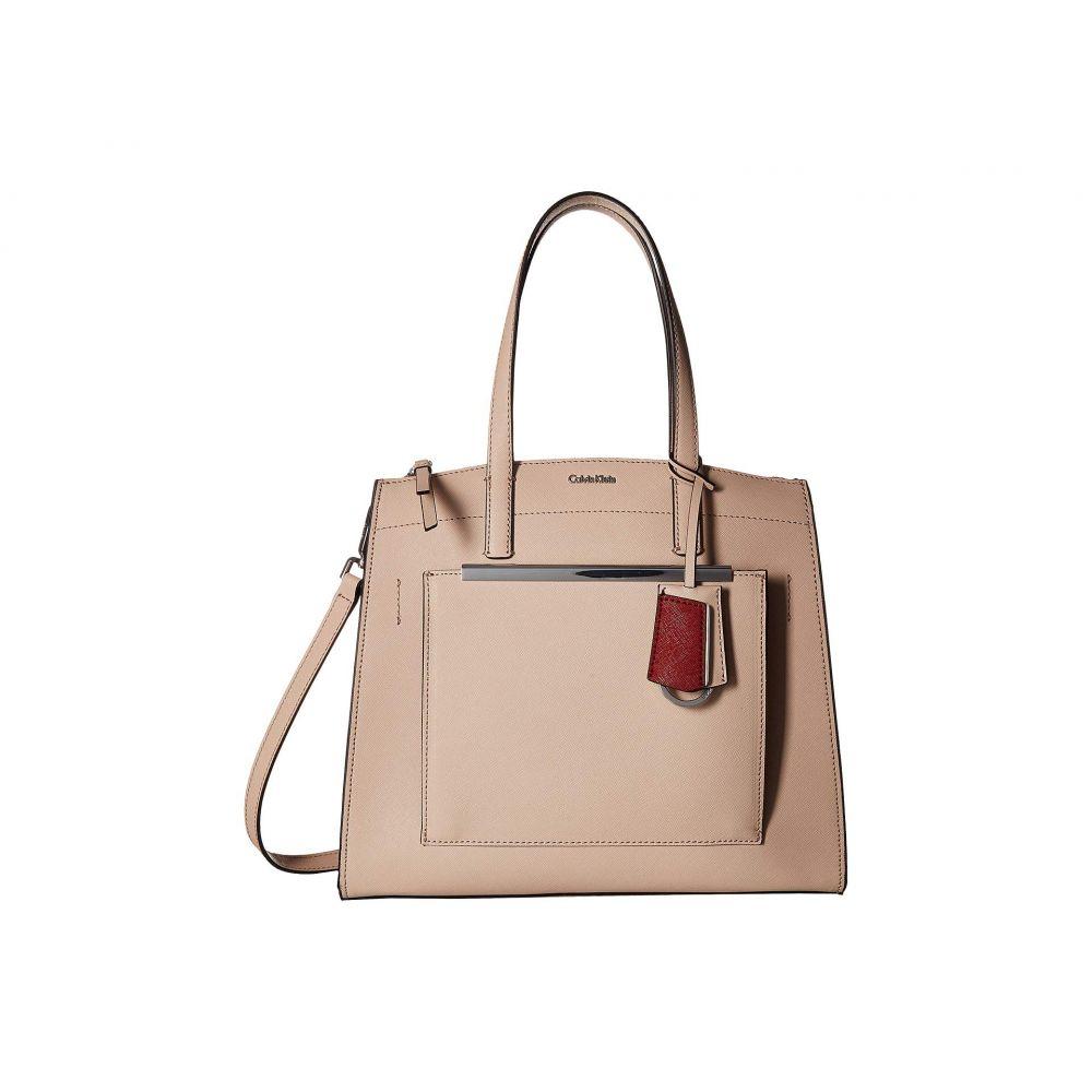 カルバンクライン Calvin Klein レディース バッグ ハンドバッグ【Mara Saffiano Leather Satchel】Desert Taupe
