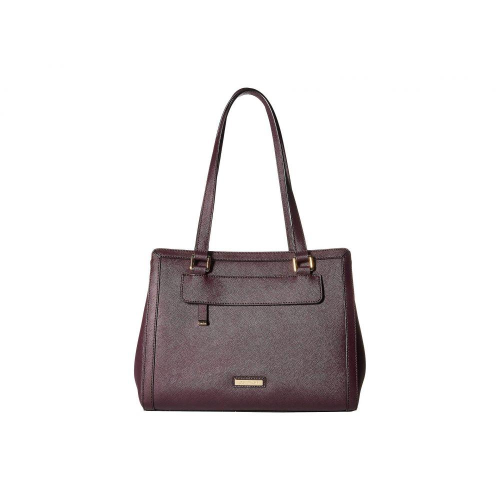 カルバンクライン Calvin Klein レディース バッグ トートバッグ【Saffiano Leather Triple Entry Shopper】Aubergine