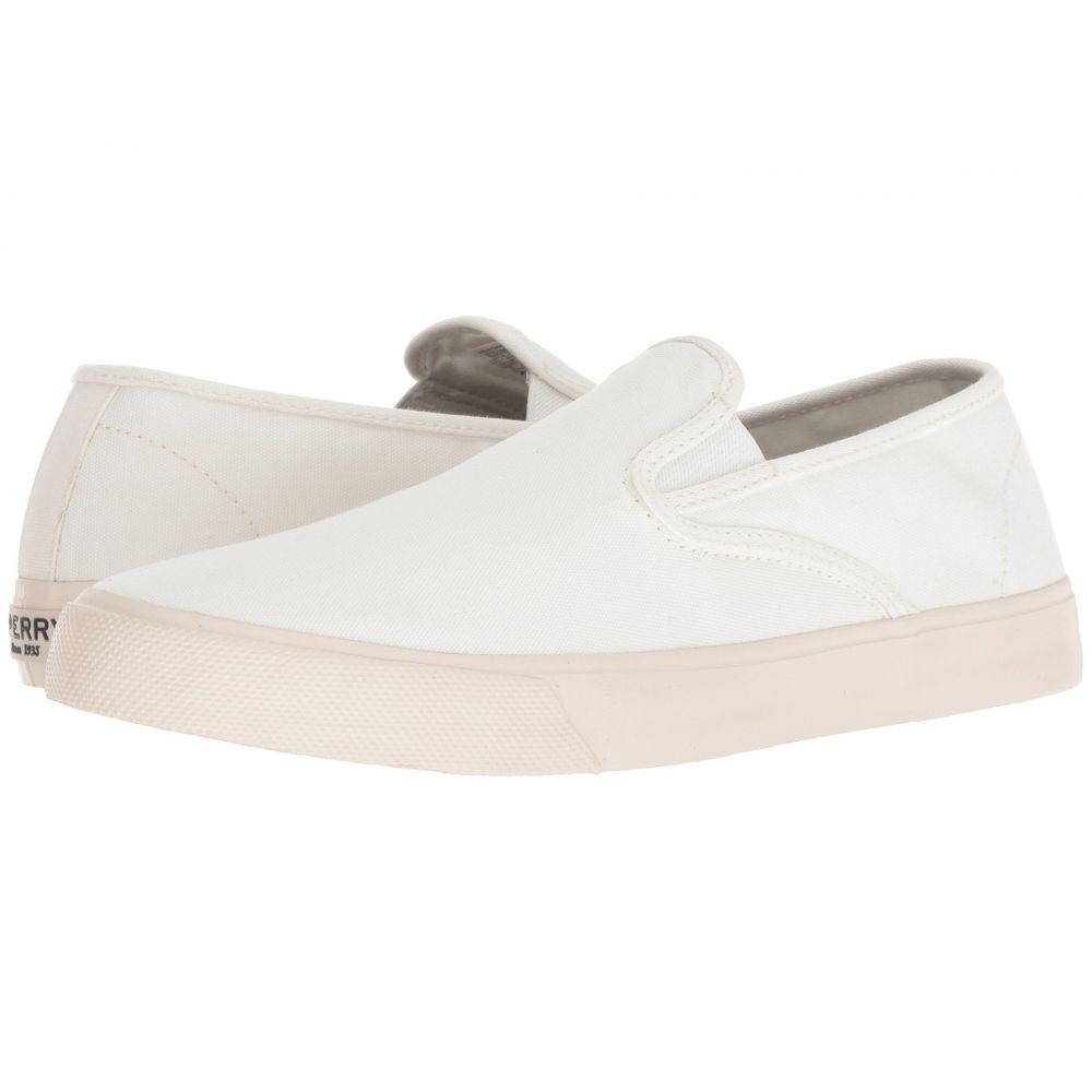 スペリー Sperry メンズ シューズ・靴 スリッポン・フラット【Captain's Slip-On】White