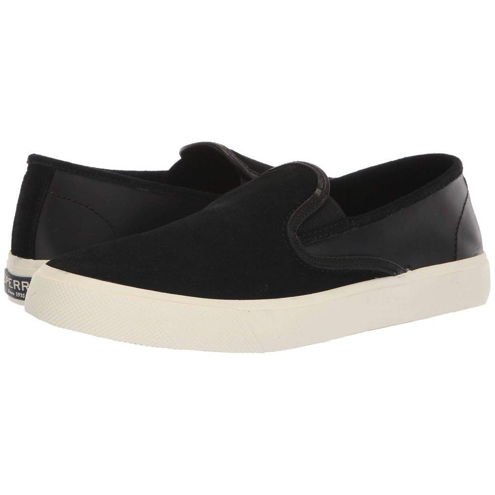スペリー Sperry メンズ シューズ・靴 スリッポン・フラット【Captain's Slip-On Leather】Black