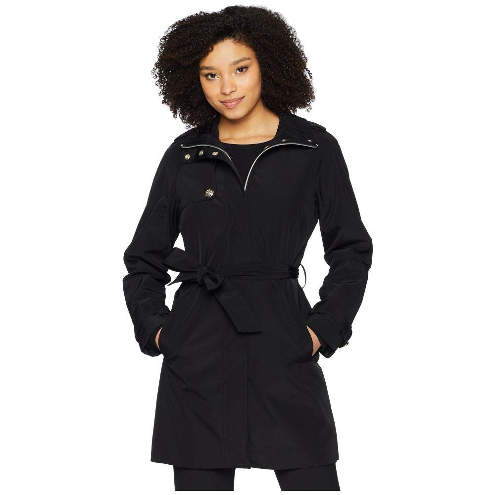 イヴァンカ トランプ Ivanka Trump レディース アウター レインコート【Crest Button Belted Raincoat】Black