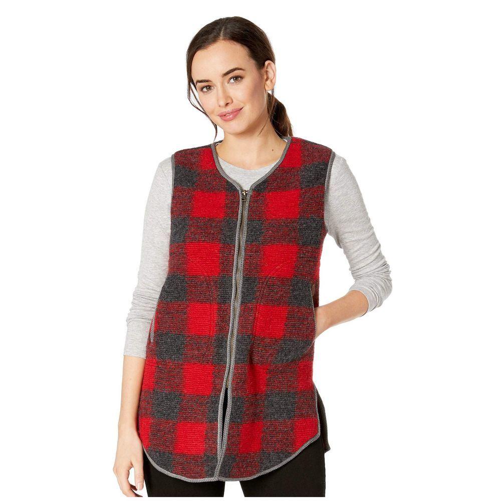 ウールリッチ Woolrich レディース トップス ベスト・ジレ【Chilly Days Long Vest】Red Heather
