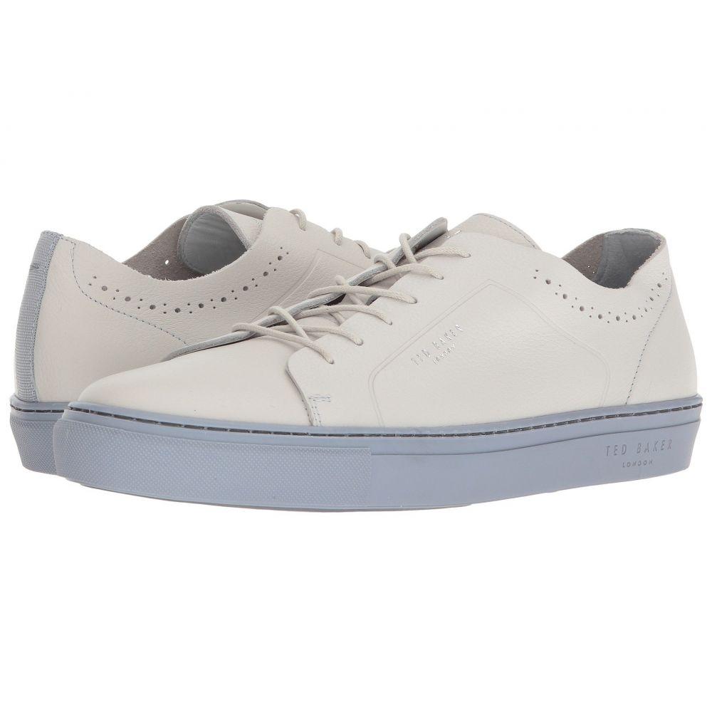 テッドベーカー Ted Baker メンズ シューズ・靴 スニーカー【Uurll】White/Light Blue Leather