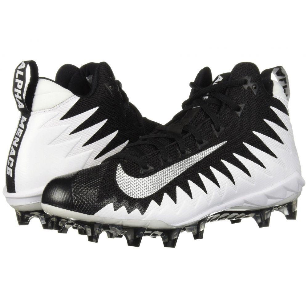 ナイキ Nike メンズ アメリカンフットボール シューズ・靴【Alpha Menace Pro Mid】White/Metallic Silver/Black