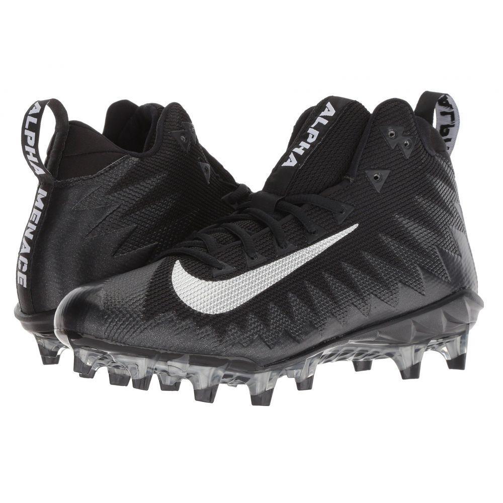 ナイキ Nike メンズ アメリカンフットボール シューズ・靴【Alpha Menace Pro Mid】Black/Metallic Silver/Black