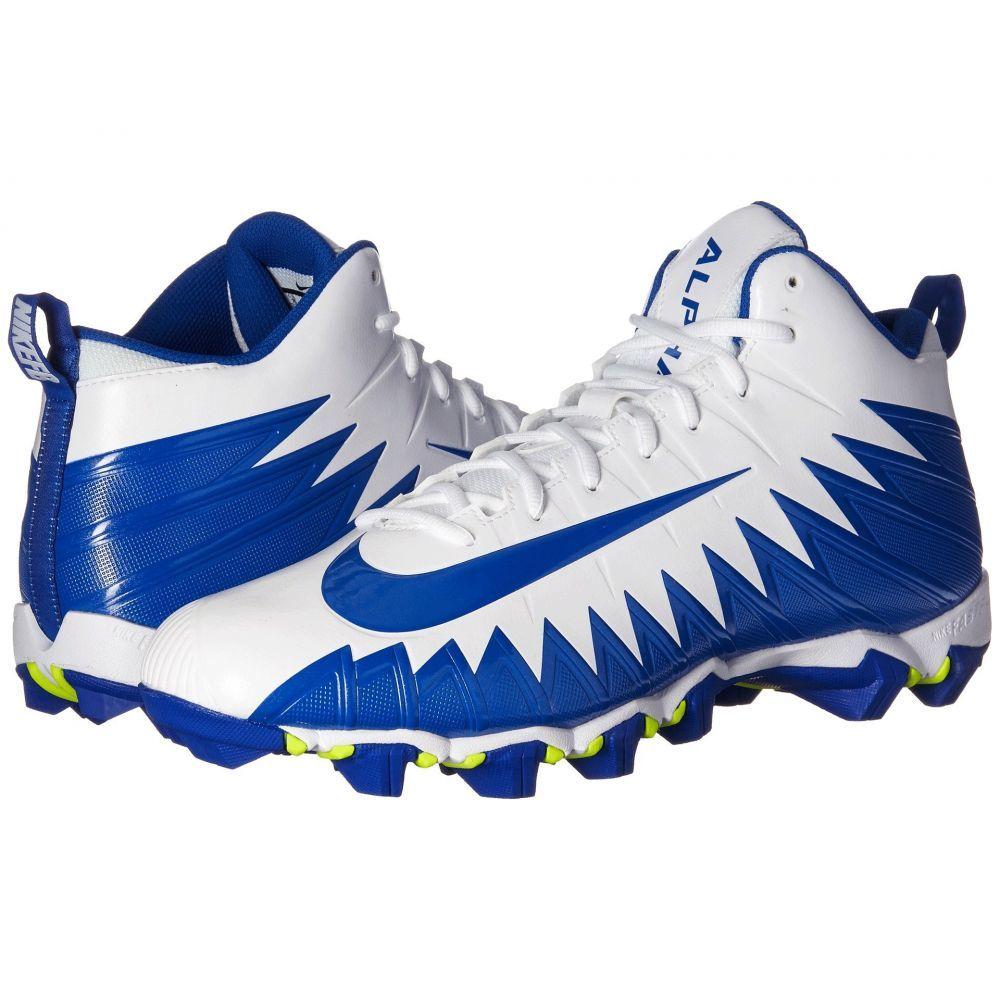 ナイキ Nike メンズ アメリカンフットボール シューズ・靴【Alpha Menace Shark】White/Game Royal/Game Royal