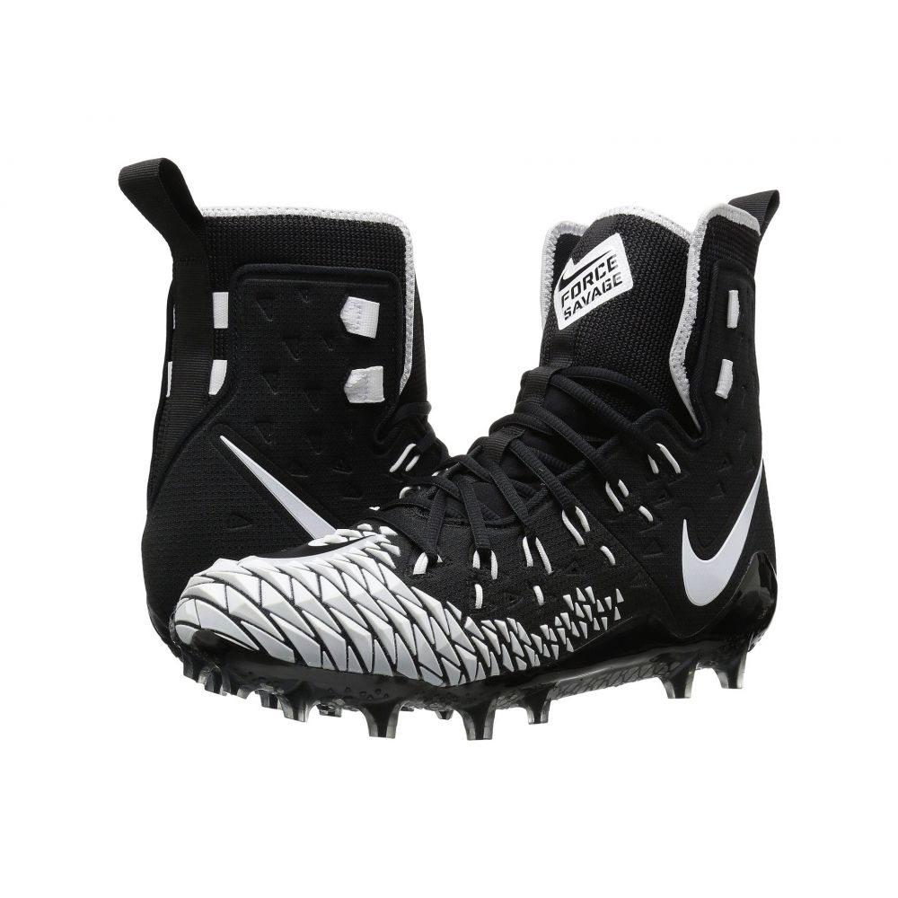 ナイキ Nike メンズ アメリカンフットボール シューズ・靴【Force Savage Elite TD】Black/White/Black