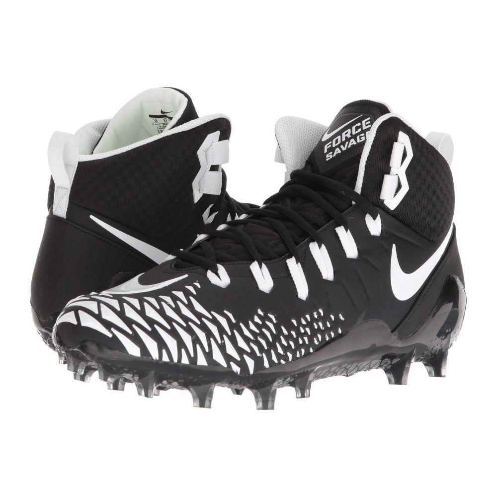 ナイキ Nike メンズ アメリカンフットボール シューズ・靴【Force Savage Pro】Black/White/Black/Black