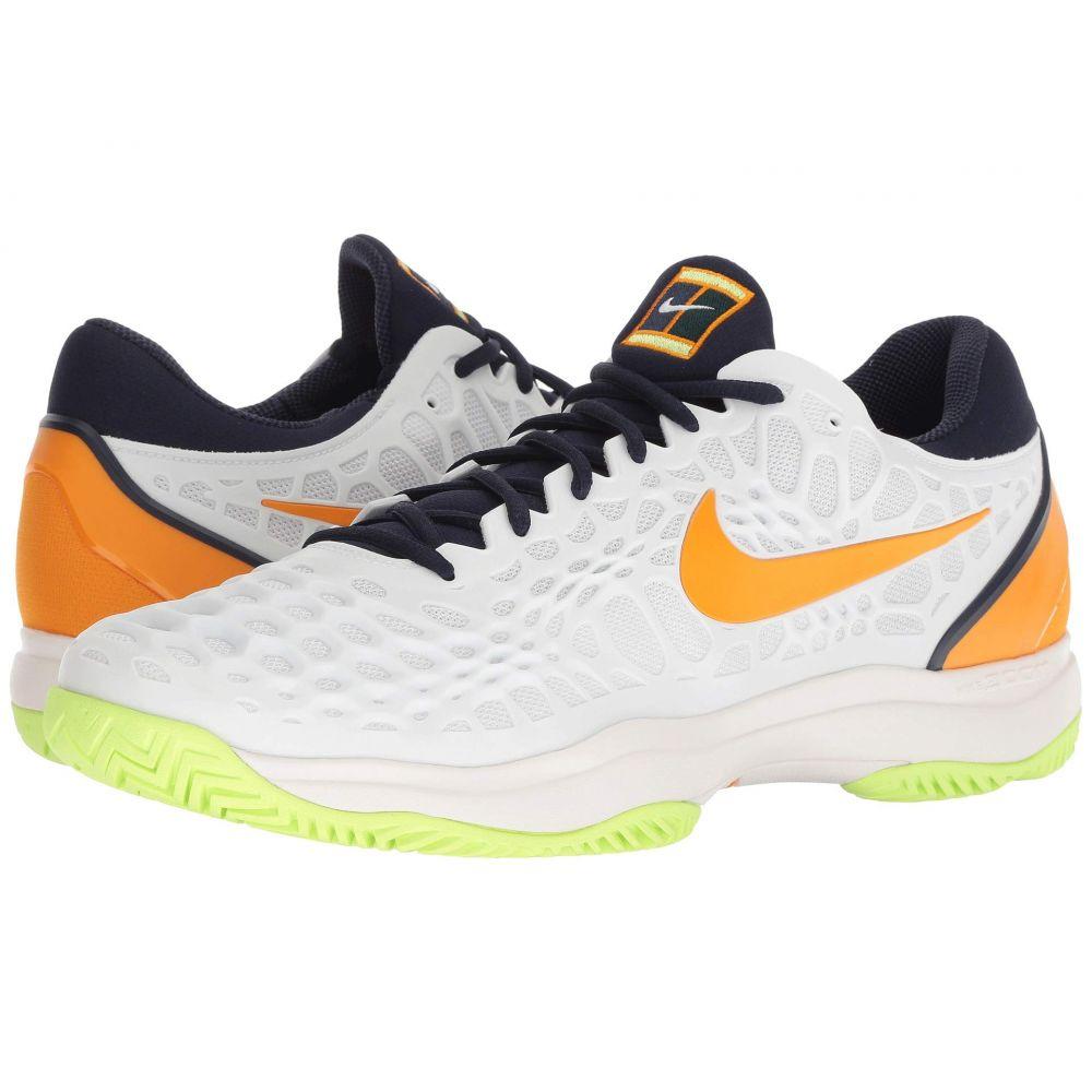 ナイキ Nike メンズ テニス シューズ・靴【Zoom Cage 3 HC】White/Orange Peel/Blackened Blue/Phantom