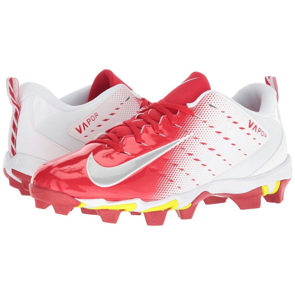 ナイキ Nike メンズ アメリカンフットボール シューズ・靴【Vapor Shark 3】White/Metallic Silver/University Red