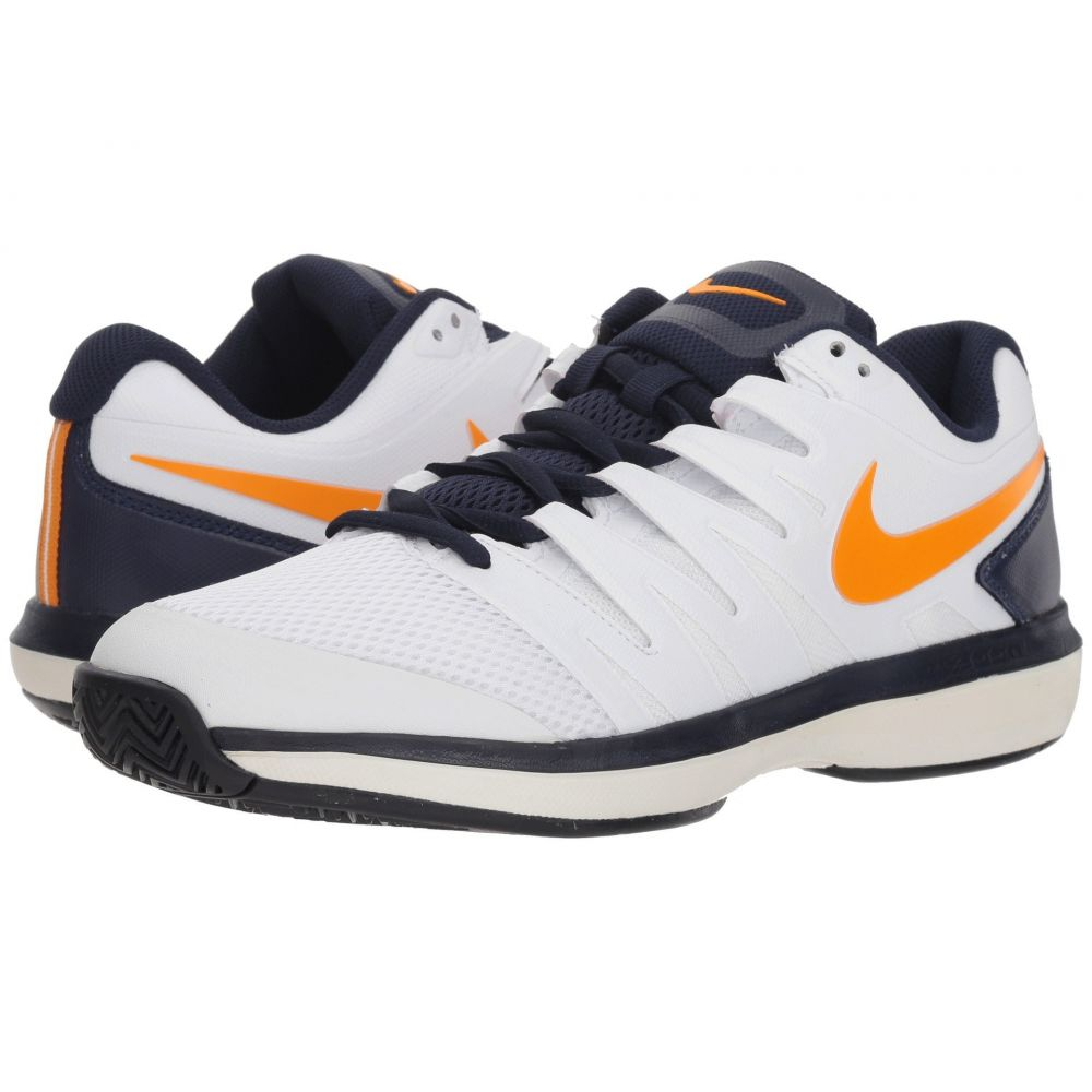 ナイキ Nike メンズ テニス シューズ・靴【Air Zoom Prestige】White/Orange Peel/Blackened Blue/Phantom