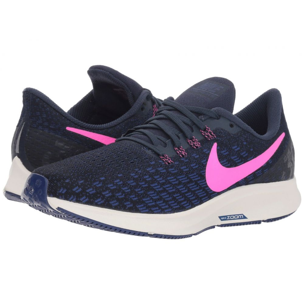 ナイキ Nike レディース ランニング・ウォーキング シューズ・靴【Air Zoom Pegasus 35】Obsidian/Pink Blast/Deep Royal Blue