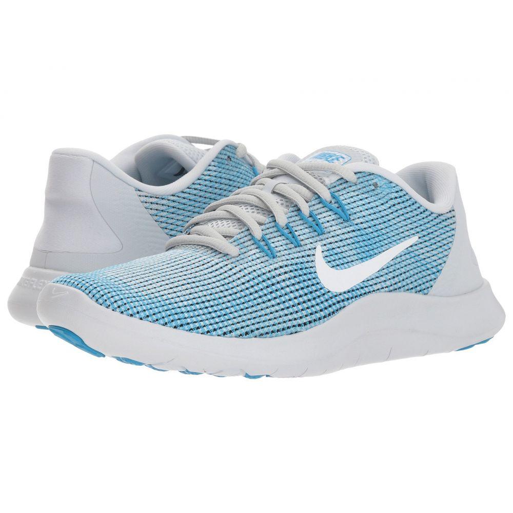 ナイキ Nike レディース ランニング・ウォーキング シューズ・靴【Flex RN 2018】Pure Platinum/White/Equator Blue