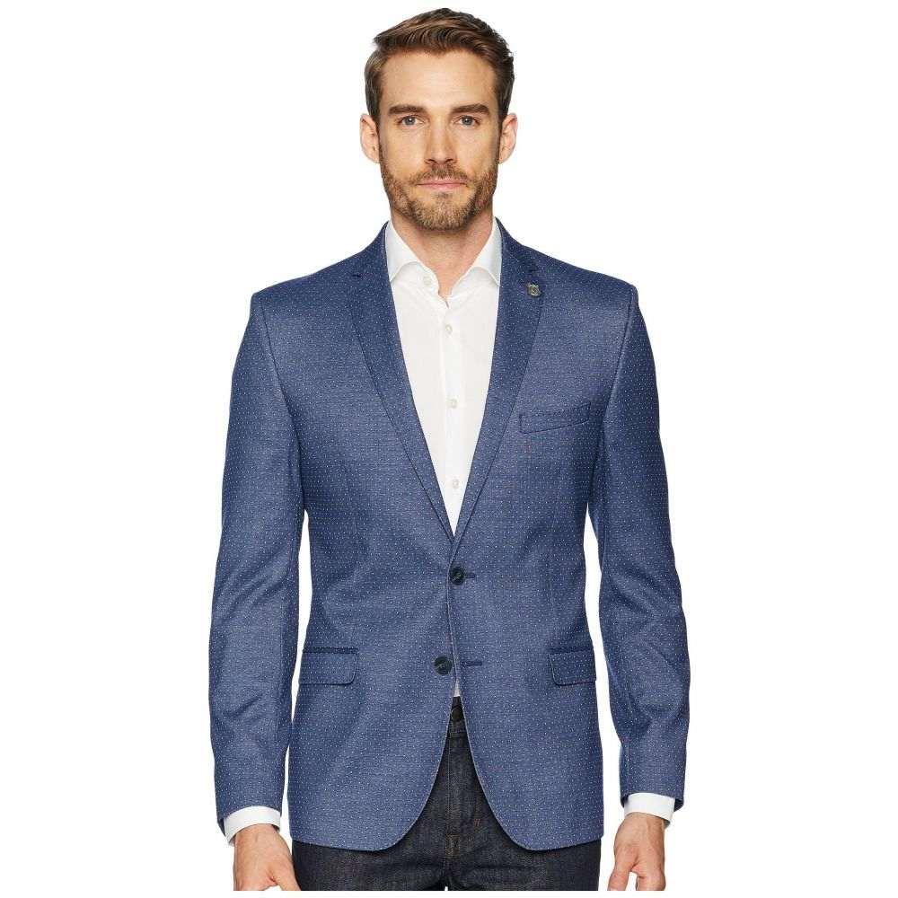 ニック グラハム Nick Graham メンズ アウター スーツ・ジャケット【Blue Pin Dot Slim Fit Blazer】Blue Dot