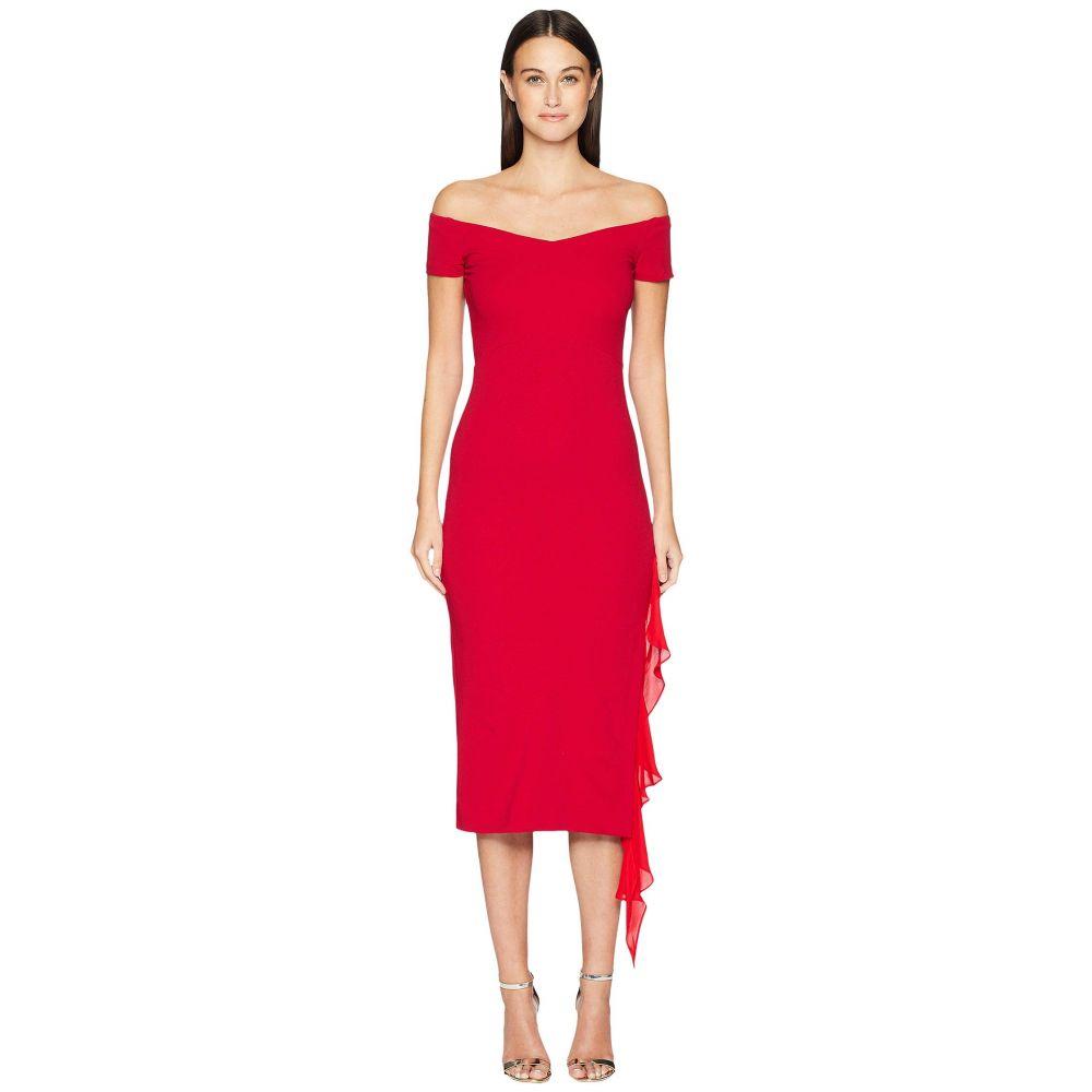 ニコルミラー Nicole Miller レディース ワンピース・ドレス ワンピース【Structured Heavy Jersey off Shoulder Dress】Red