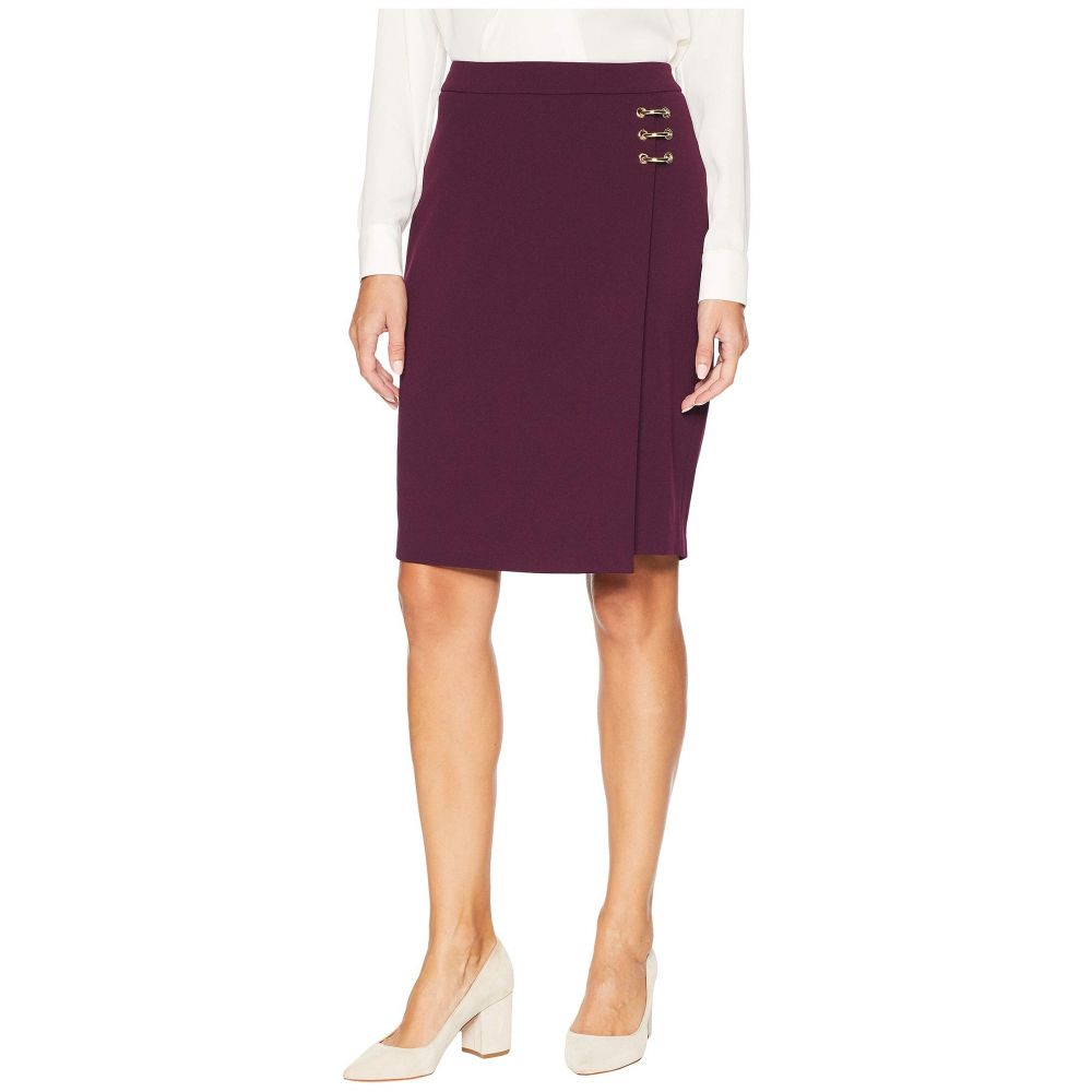 カルバンクライン Calvin Klein レディース スカート ひざ丈スカート【Pencil Skirt w/ Ring Hardware】Aubergine